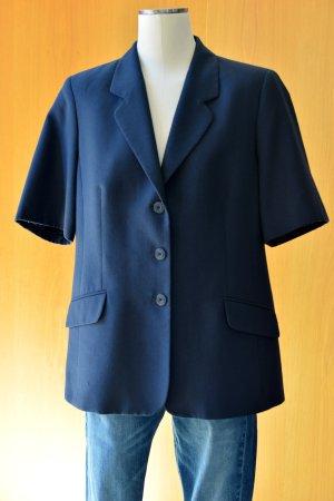 Vintage Blazer boyfriend bleu foncé tissu mixte