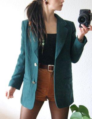 Vintage Blazerjacke waldgrün, langer Blazer 90er, preppy alternative herbst