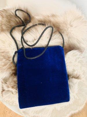 Sac bandoulière bleu fibre synthétique