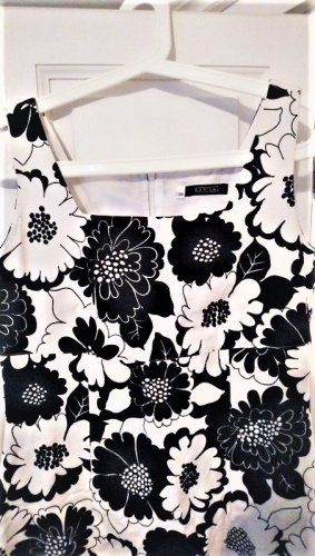 Barisal Sheath Dress white-black