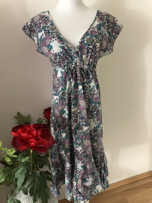 Vintage Robe mi-longue multicolore