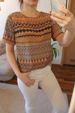 alternative vintage soft Top koszulowy czarny-brązowy
