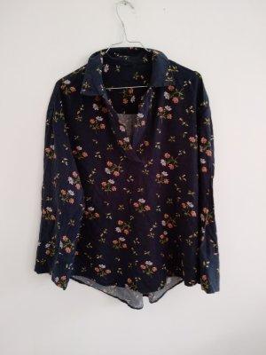 Lady Vintage Bluzka oversize ciemnoniebieski