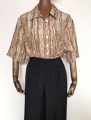 Vintage Bluse aus Seide mit Retromuster