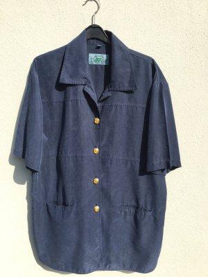 Vintage Bluse blau 40