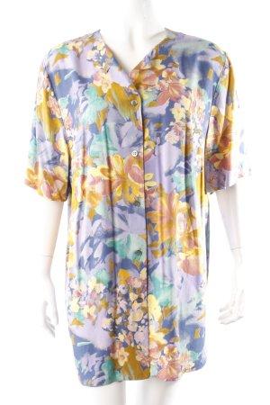 Vintage-Bluse Blumenmuster lila