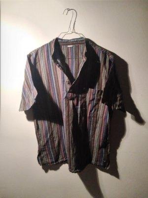 True Vintage Blusa con lazo multicolor