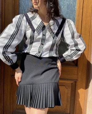 True Vintage Cols de blouses noir-blanc