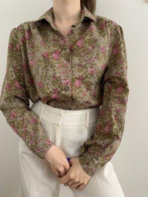 Vintage Bluse geblümt