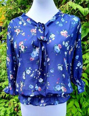 Vintage Silk Blouse blue