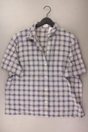 Vintage Bluse Größe 48 Kurzarm blau