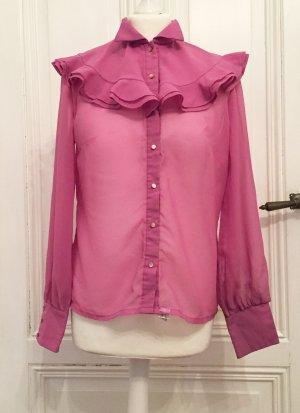 Vintage Bluzka ze stójką Wielokolorowy Poliester