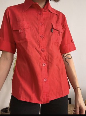Vintage Bluse in Rot