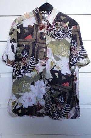 Vintage Bluse mit abstraktem Muster 38-42