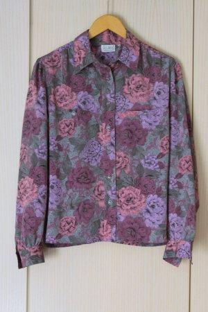 Vintage-Bluse mit Blumenmuster