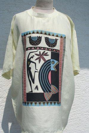 Vintage Długa koszulka Wielokolorowy Jedwab