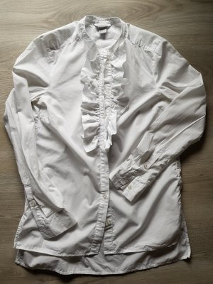 H&M Ruffled Blouse white