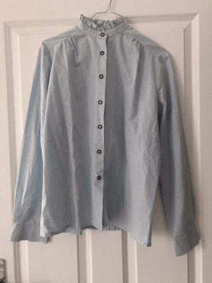 Vintage Bluse mit Stehkragen