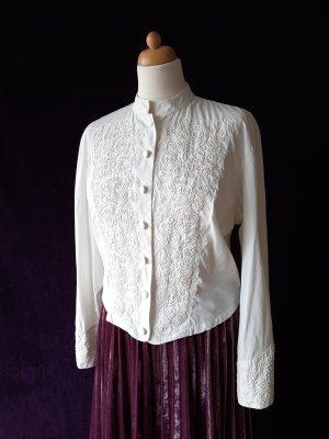 Vintage Bluse mit Stehkragen 80er 80ies