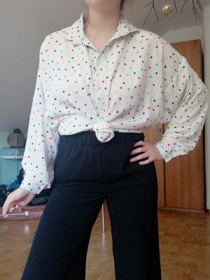 Vintage Bluse Oversized Punkte