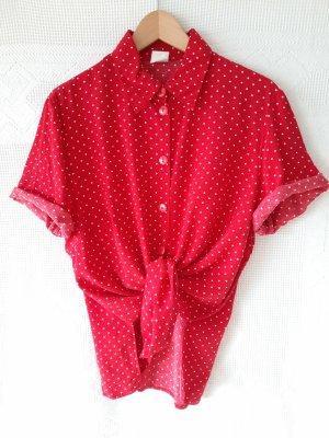 Vintage Bluse Polka Dot aus Viskose