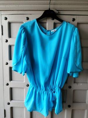 Vintage Bluse Polyester Gr M/L Taillen Bluse
