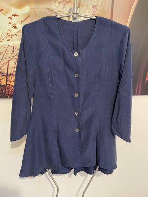 Vintage Bluse reine Seide Perlmutt Knöpfe