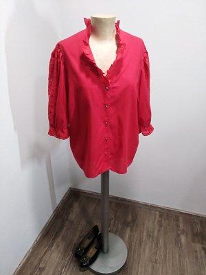 Vintage Folkloristische blouse rood