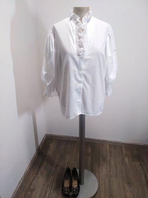 Vintage Blusa tradizionale bianco Cotone