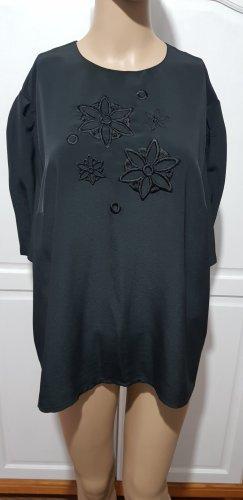 vintage bluse schwarz blume