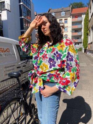 Vintage bluse/shirt mit blumen