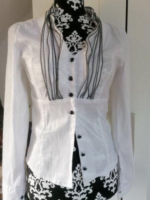 Kappus Blusa de manga larga blanco-negro
