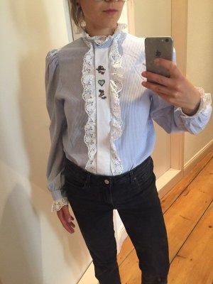 vintage Bluse Trachtenbluse