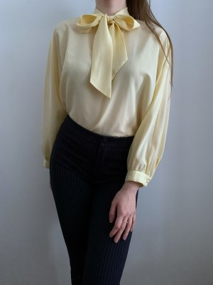 Fürnkranz Blouse avec noeuds jaune clair-jaune primevère