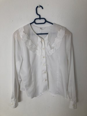 True Vintage Kanten blouse wit