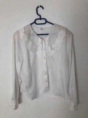 True Vintage Koronkowa bluzka biały