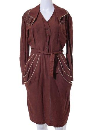 Vintage-Blusenkleid braun