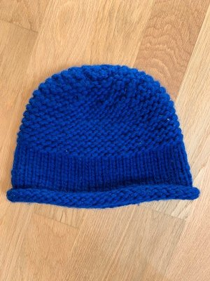 Bogner Knitted Hat blue wool