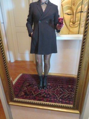 Vintage Bohemian Braun STRENESSE Schurwolle Mantel - Swing Coat - Long Jacket - Gehrock Blazer 38 40
