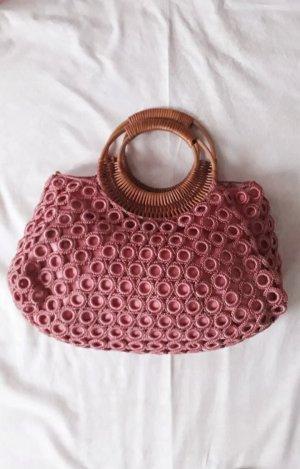 Pouch Bag multicolored mixture fibre