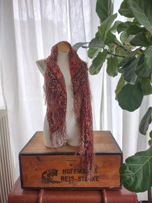 Vintage Bohochic Tuch / Schal mit Fransen