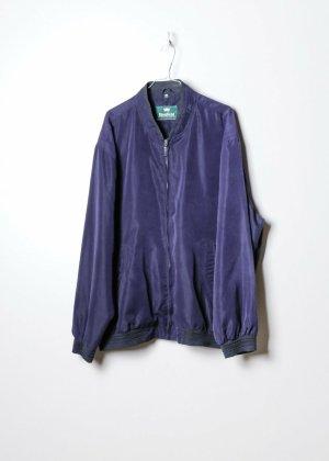 Kingfield Bomber Jacket blue silk