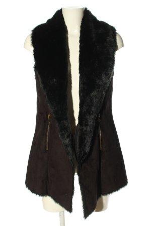 Vintage Boutique Collection Kunstfellweste braun-schwarz Casual-Look