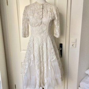 Vintage Braut Kleid mit Bolero aus Spitze 1950er Jahren Gr. 36
