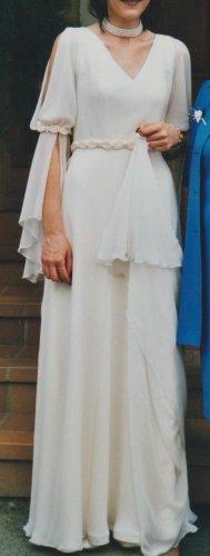 Bruidsjurk licht beige Polyester