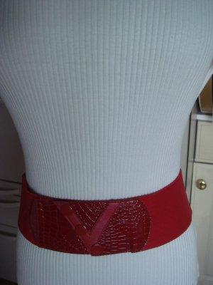 Vintage Ceinture en tissu rouge tissu mixte