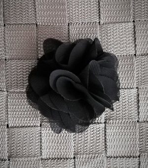 Vintage Accesorio para el pelo negro-color plata