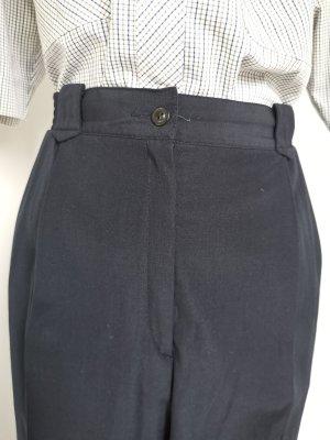 Vintage Pantalon à pinces noir-bleu foncé