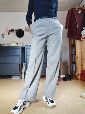 Vintage Pantalon à pinces gris