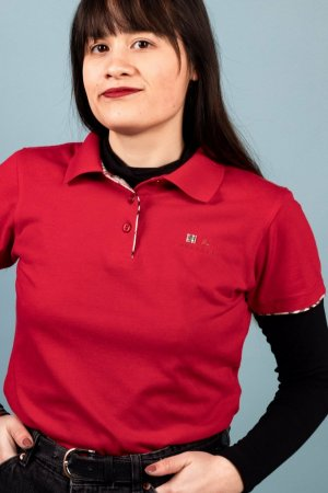 Burberry Blouse Top red cotton